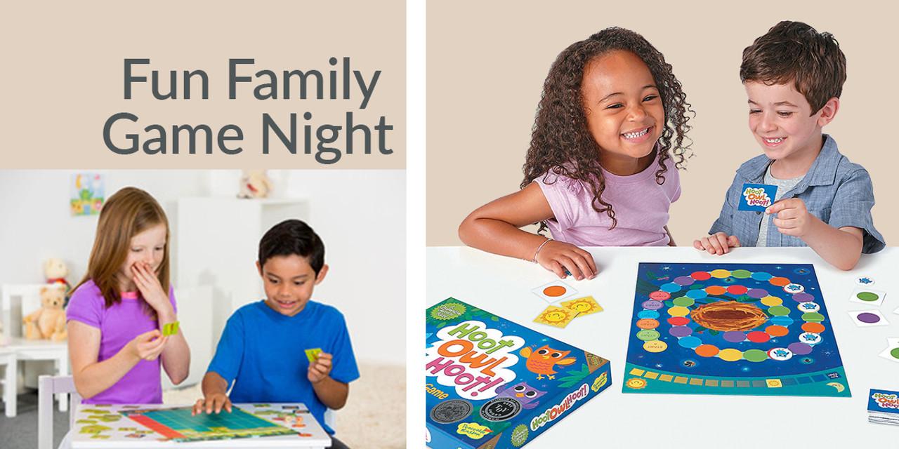 Fun Family Game Night - kids playing board games