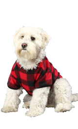 Canada Plaid Pet Snuggle Suit