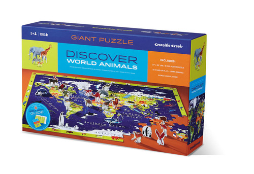 Crocodile Creek floor puzzle world animals