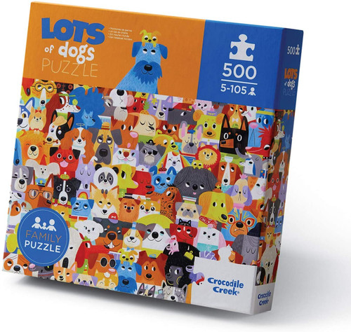 500 Pc. Puzzle-Lots of Dogs
