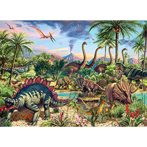 350 Pc. Family Puzzle-Prehistoric