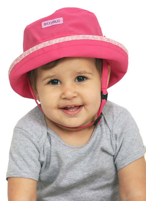 Laugh & Play UPF 50+ Sun Hat || Lyra, 15 months is wearing size 1-2