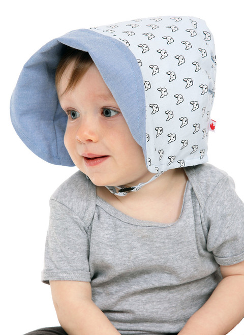 Playful Pup Bonnet  || Hugh, 12 months is wearing size 1-2