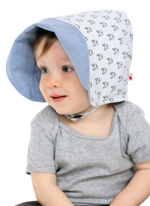 Playful Pup Bonnet  || Hugh, 12 months is wearing size 1-2