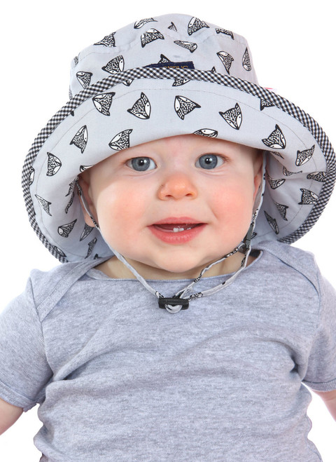 Be Brave Sun Hat || John, 8 months old is wearing size 6-12 mon