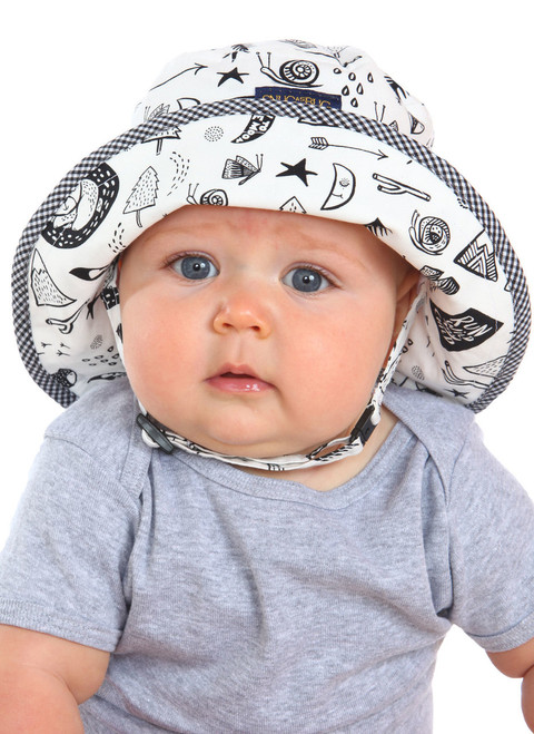 Run Wild Sun Hat || Charlotte, 6 months old is wearing size 6-12 mon