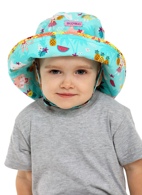 Hula Kitty Adjustable Sun Hat  || Alice, 2 1/2 yrs is wearing size 2-8
