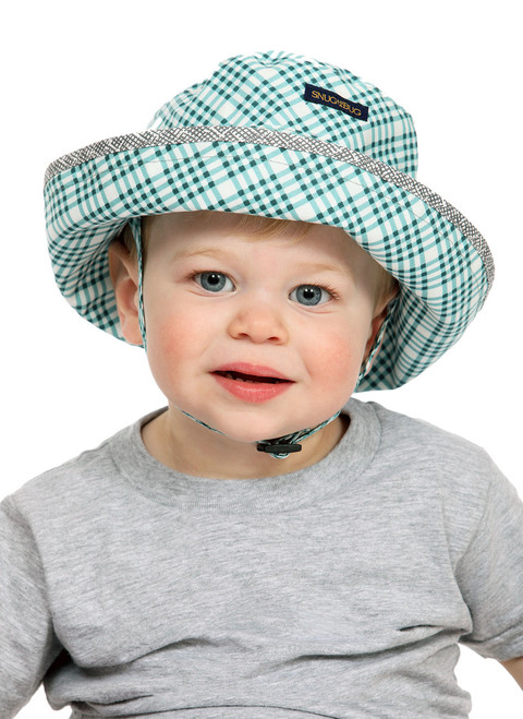 Out There Adjustable Sun Hat  || John, 19 months is wearing size 0-2 yrs