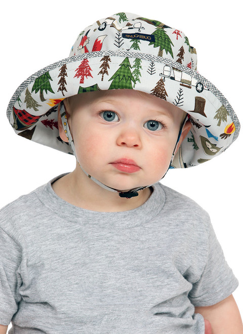 Deep Woods Adjustable Sun Hat  || John, 19 months is wearing size 0-2 yrs