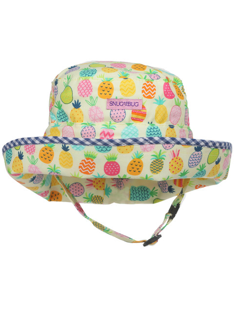Pineapple Picnic Adjustable Sun Hat || Pineapple Picnic Adjustable Sun Hat, Front View