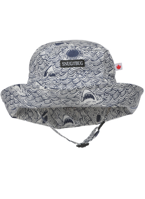Shark Water Adjustable Sun Hat || Shark Water Adjustable Sun Hat, Front View