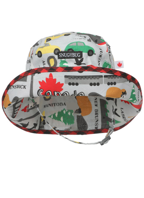 Road Trip Adjustable Sun Hat || Road Trip Adjustable Sun Hat, Front View