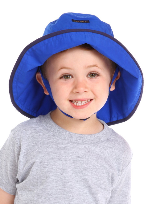 Royal UPF 50+ Adjustable Hat || Jaxon, 3 1/2 yrs old is wearing size 2-8