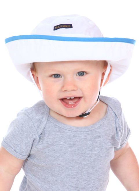 White/Blue UPF 50+ Adjustable Hat || White/Blue UPF 50+ Adjustable Hat