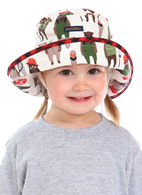 Back Country Adjustable Sun Hat || Scarlett, 3 yrs old is wearing size 0-2
