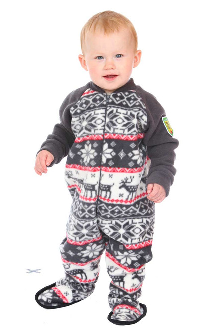 Cozy Cottage Little Kids Footed Pajama  || Oliver 14 months, wearing 1-2 yrs Pajama