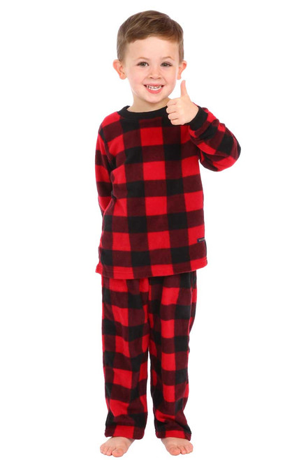 Canada Plaid Little Kids Two-Piece Pajamas || Jaxon 3 1/2 , wearing 3-4 yrs Pajama
