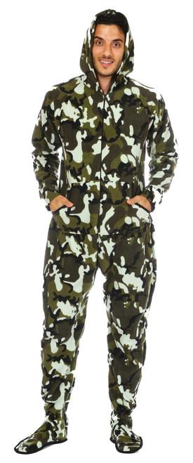 Reza, 6' Wearing Large Hooded Onesie