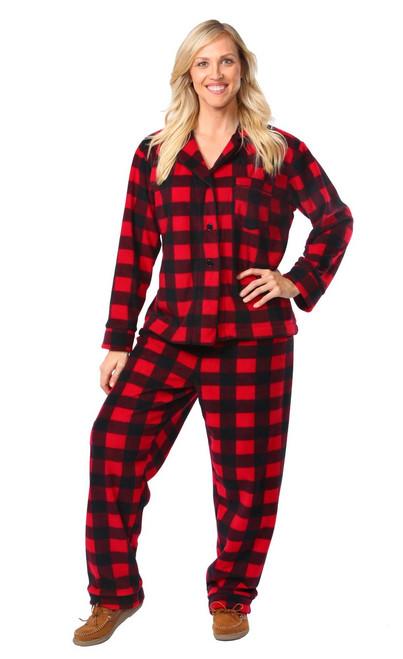 "Women's Canada Plaid Classic Pajama Set    Katrina 5'9"" wearing Large Pajama"