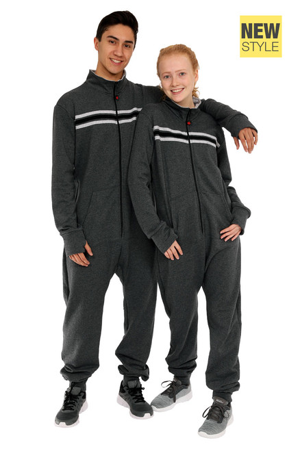 "Jump In Jumpsuit || Noah 6'0"" is wearing size Large <br/> Morris 5'8"" is wearing size Medium"