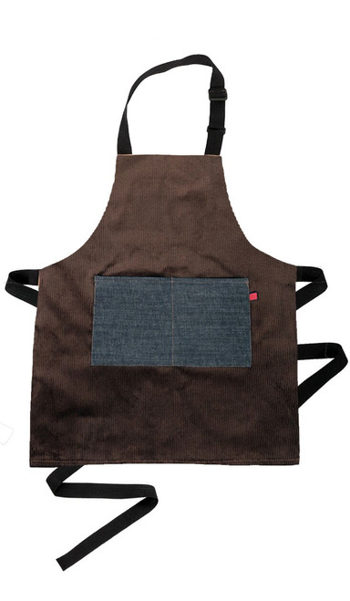 Kids Chocolate Corduroy Apron