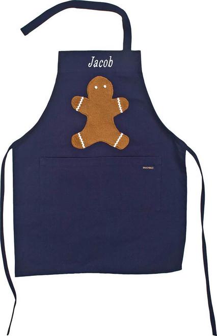 Kids Navy Gingerbread Apron