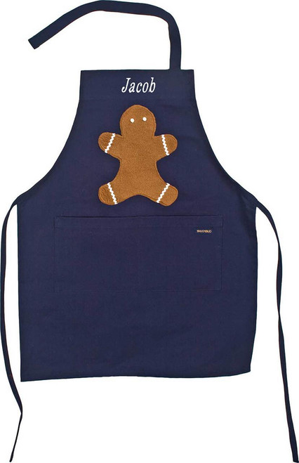 Navy Gingerbread Apron
