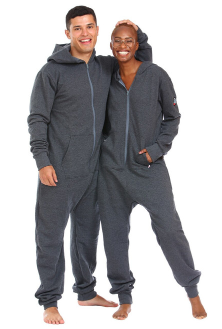 Charcoal Footless Onesie