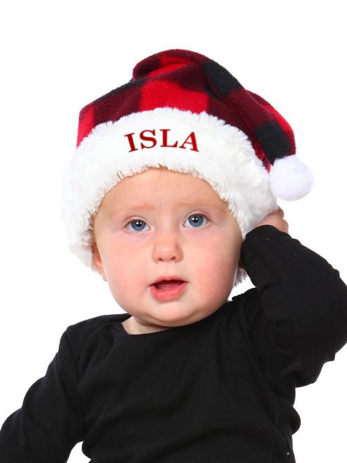 Baby Canada Plaid Adjustable Santa Hat