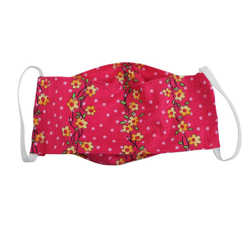 Fuchsia flower cotton face mask for adults
