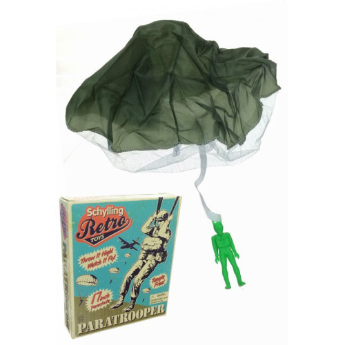 Schylling retro paratrooper toy with box
