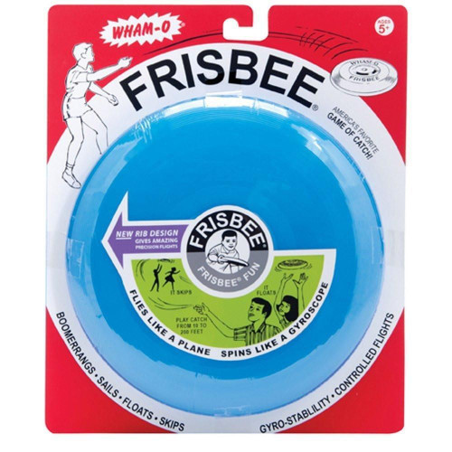 Whamo vintage frisbee in package, blue