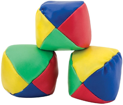3 colourful Schylling juggling balls