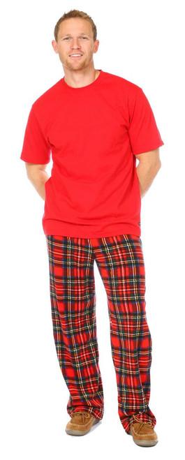 Snug As A Bug men's 2 piece pajama set, tartan
