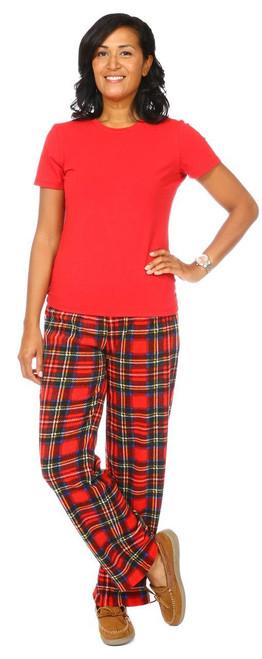 Snug As A Bug women's 2 piece pajama set, tartan