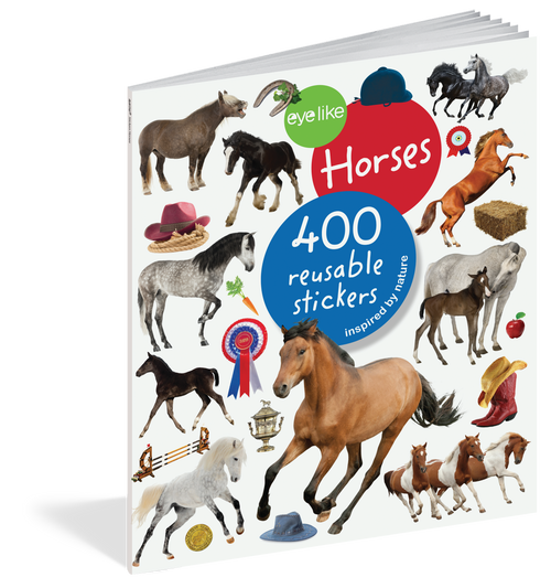 Eyelike Sticker Book-Horses