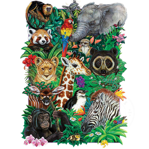 350 Pc. Puzzle-Safari Babies
