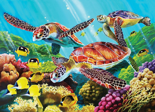 350 Pc. Family Puzzle-Sea Turtles