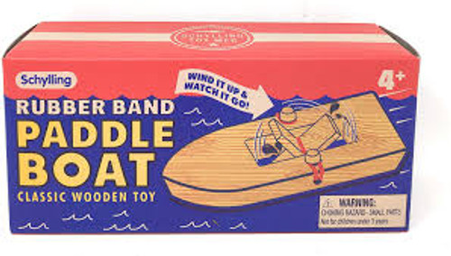 Schylling Rubber band powered paddle boat in box