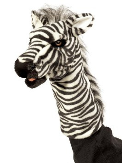 "Zebra Stage Puppet-13"" tall"