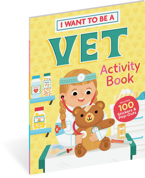 I want to be a vet activity book for kids