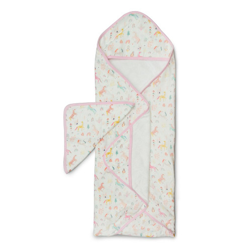 Loulou Lollipop Hooded Towel Set-Unicorn Dream