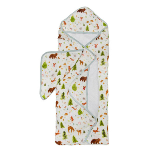Loulou Lollipop Hooded Towel Set-Forest Friends