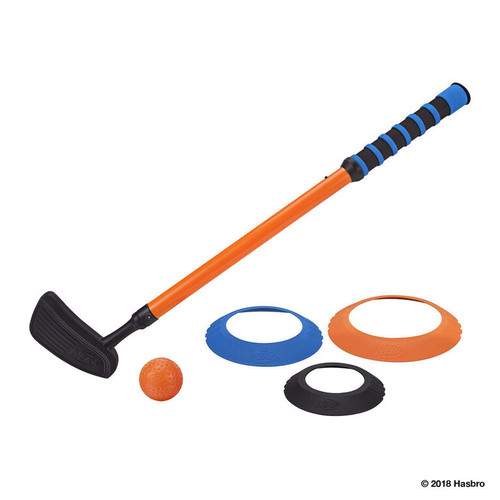 Nerf Putt 'n go golf set one putter one ball three rings