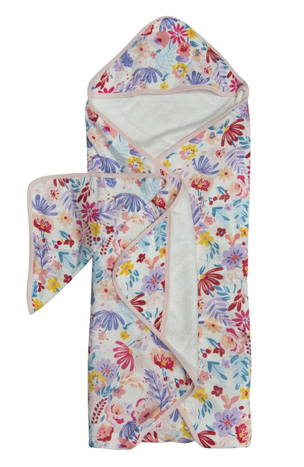 Hooded Towel Set-Light Field Flowers