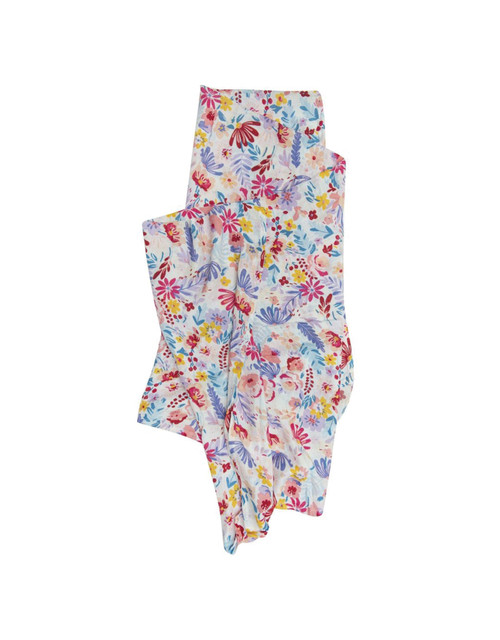 Loulou Lollipop Muslin Swaddle-Light Field Flowers