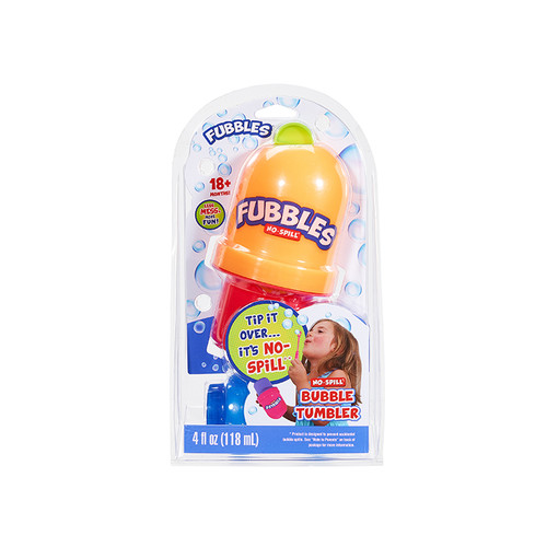 Fubbles No Spill Bubble Tumbler yellow and red