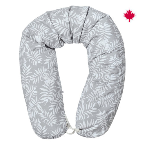Perlim Pinpin Body Pillow Grey Fern print