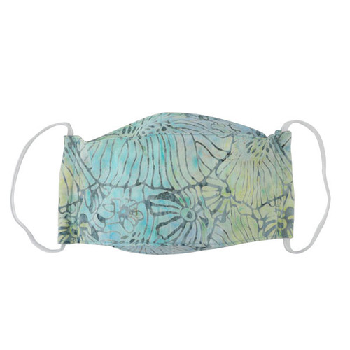 Adult Cloth Mask - Batik Seafoam