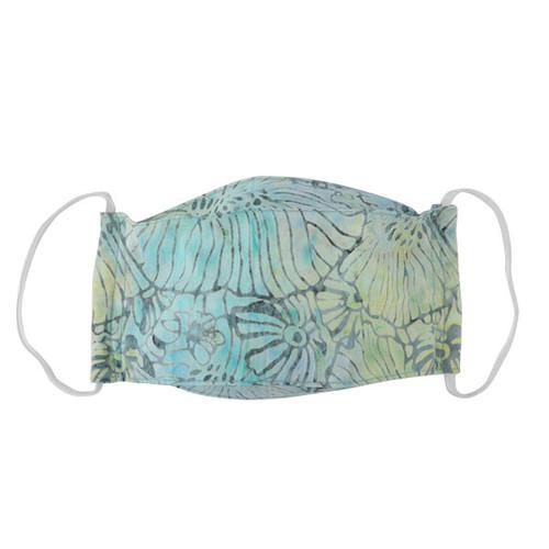 Adult Cloth Mask - Batik Seafoam